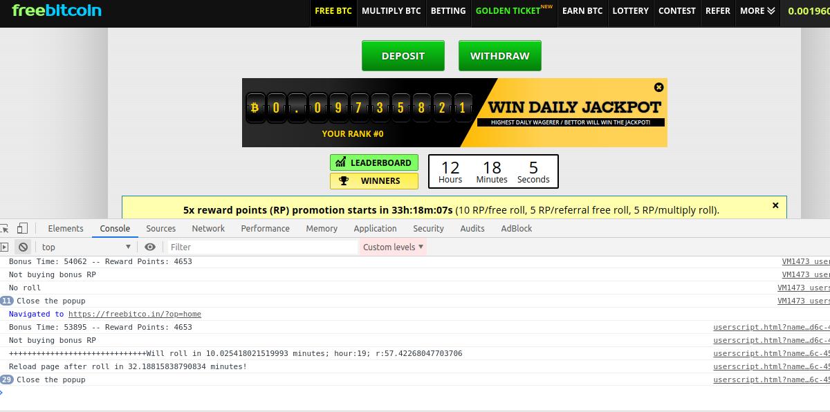 Freebitcoin auto betting monster sites ganhar bitcoins