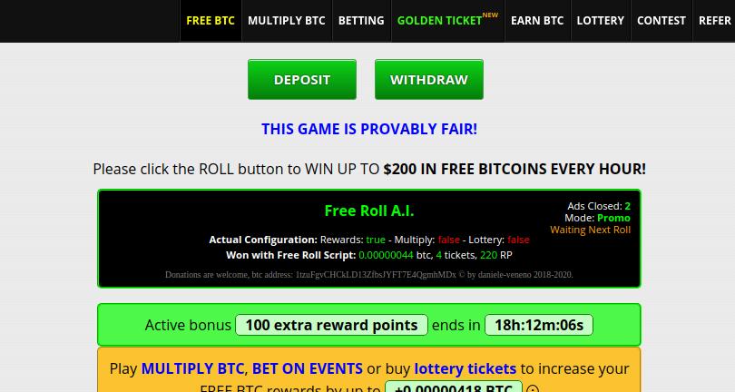 script della lotteria bitcoin